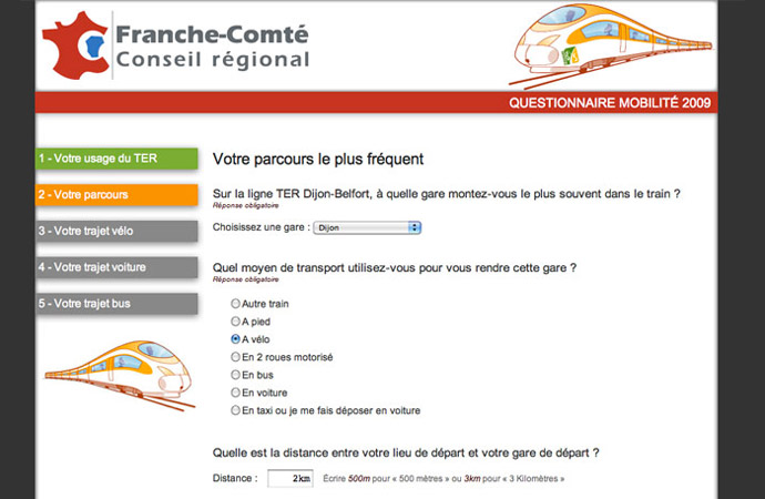 Page de question du calculateur carbone